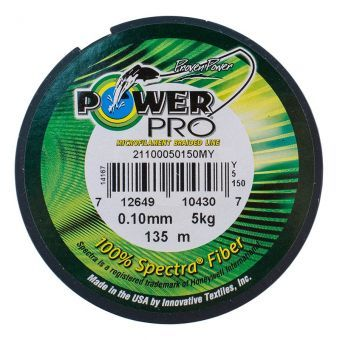 Шнур Power Pro Hi-Vis Yellow 135м 0.10mm 5кг